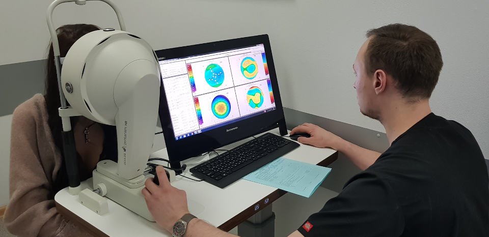 Стоимость кератотопографии роговицы глаза в Москве